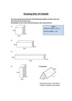 nets of cuboids worksheet drawing nets of cuboids by ewarwood teaching resources