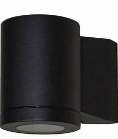 metro single wall light black exterior lights tubular