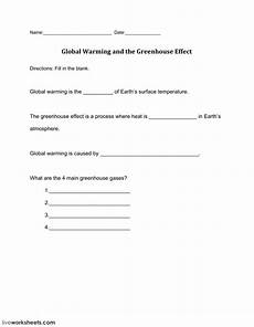 earth science worksheet greenhouse effect answer key 13283 global warming and the greenhouse effect interactive worksheet
