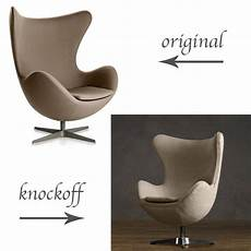 Original Vs Knockoff Arne Jacobsen Egg Chair Replica