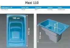 Saunatauchbecken Aus Gfk Kunststoff Mit 220 Berlaufrinne Maxi 110