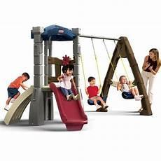 tike swing and slide endless adventures lookout swing set tikes