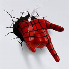 3d wall art nightlight spiderman will create a web from yarn to extend from to