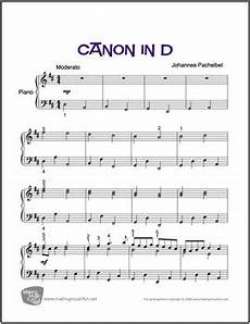 canon in d pachelbel sheet music for easy piano