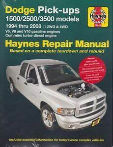 car repair manuals online pdf 1994 dodge ram van b150 parental controls 1994 2008 dodge ram truck haynes repair service workshop manual book 22878 ebay