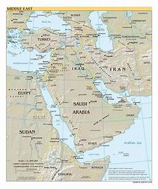 middle eastern scales large scale political map of the middle east with relief major cities and capitals 2000