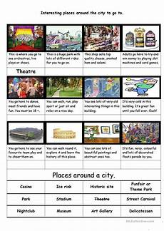 places to visit worksheets 16035 places of interest in your city to visit worksheet free esl printable worksheets made by teachers