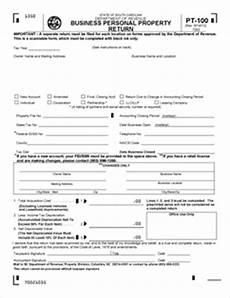 form pt 100 fillable business personal property return