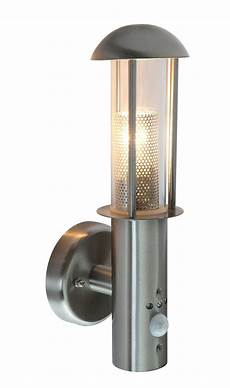 b and q blooma wall light blooma tellumo brushed stainless steel 28w mains powered external pir wall light departments