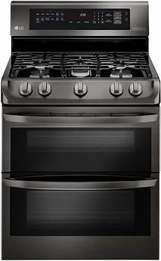 lg black stainless double gas range ldg4315bd