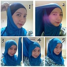 Cara Memakai Jilbab Pashmina Kaos Yang Simple