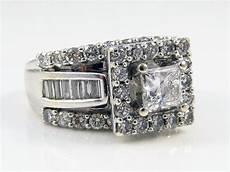 zales 14k white gold 2 20ct princess cut diamond