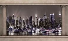 new york city mural wallpaper new york city skyline window view wall paper mural buy
