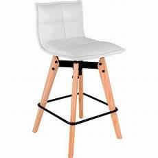 Chaise De Bar Pivotante En Simili Blanc H66cm Agathe
