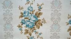 Vintage 1940s Wallpaper Blue Ticking