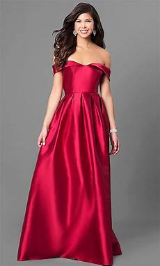 formal prom with off the shoulder bodice