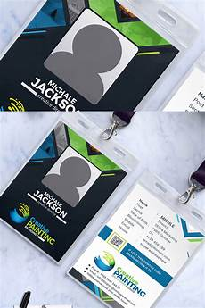 employee id card template ai free company employee id badge corporate identity template 79746