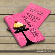 bakery name card template cupcake bakery business cards