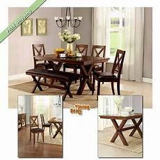 essgarnitur mit bank 6 dining set maddox table chairs with bench wood