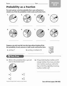 probability worksheets marbles 5837 probability as a fraction practice 23 2 worksheet for 4th 5th grade lesson planet