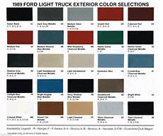 ford paint chip colors