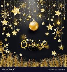 luxury elegance gold glitter merry christmas vector image