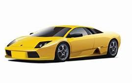 Yellow Lamborghini Vector  Free Download