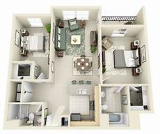 25 three bedroom houseapartment floor 50 3d floor plans lay out designs for 2 bedroom house or