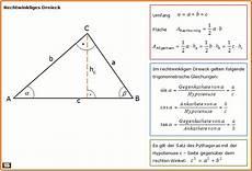 dreiecksberechnung dreieck fl 228 che umfang berechnen