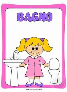 bagno bimbi cartellone per la porta bagno bambine tuttodisegni