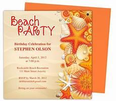 shore birthday invitation templates use with word