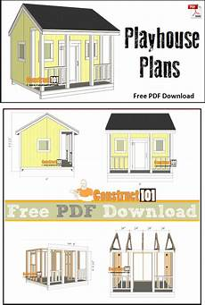free diy cubby house plans playhouse plans pdf download play houses playhouse
