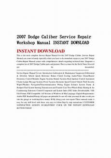auto repair manual free download 2007 dodge caliber transmission control 2007 dodge caliber service repair workshop manual instant download