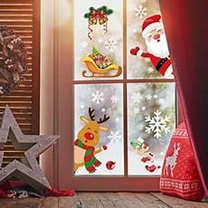 yileey weihnachtsdeko fenster fensterbilder schneeflocken