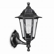 traditional brushed silver black outdoor garden wall light lantern lighting ebay