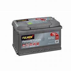Batterie Fulmen Formula Xtreme Fa722 12v 72ah 720a