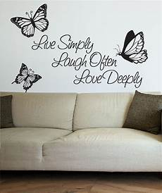wall sticker decal quotes vinyl wall decal sticker inspirational quote live simply