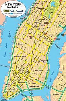 Stadtplan New York - manhattan stadtplan new york karte map