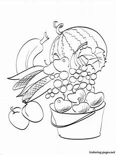 abundance of autumn harvest coloring page coloring pages