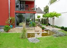 Bildergalerie Wasserbecken Terrasse Garten Sichtschutz