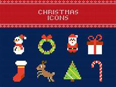 free pixel christmas vector icons by sereda dribbble