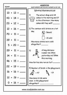addition worksheets up to 30 9075 adding two digit numbers studyladder interactive learning