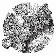 butterflies mandala colorme decal by valentina