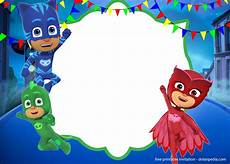 Pj Mask Malvorlagen Gratis 9 Free Pj Masks Birthday Invitation Templates Updated