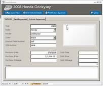 Vehicle Maintenance Database Template