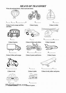 means of transport esl worksheets of the day lessons for kids free english lessons