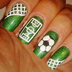 soccer nail art with images paznokcie design paznokci