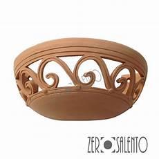 applique terracotta lada applique a mezzaluna traforata in terracotta a