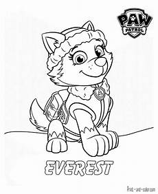 Gratis Malvorlagen Paw Patrol Paw Patrol Coloring Pages Print And Color