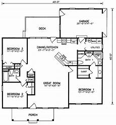1600 square foot ranch house plans house plan 45380 ranch style with 1600 sq ft 3 bed 2